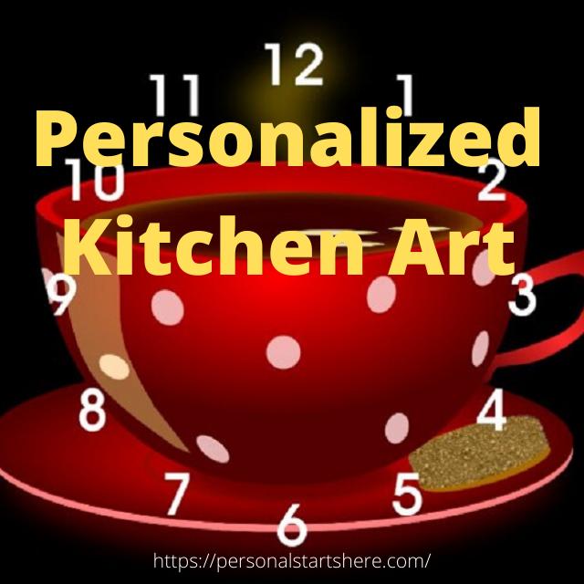personalized kitchen wall art